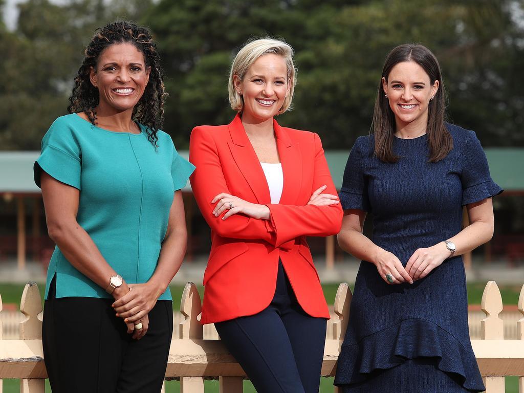 Fox Cricket anchors Neroli Meadows, Jess Yates, Mel Jones