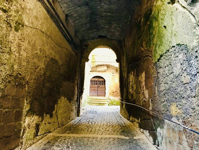 One of the many tunnels and alley ways. Picture: Silvia Marchetti