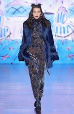 Bella Hadid walks the runway for the Anna Sui collection during New York Fashion Week: The Shows at Gallery 1, Skylight Clarkson Sq on February 15, 2017 in New York City. Picture: Getty