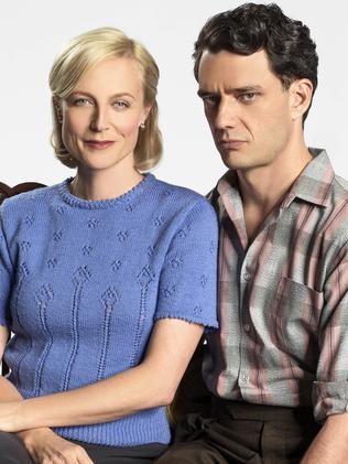 Favourite duo ... Marta Dusseldorp and Ben Winspear in A Place To Call Home. Picture: Supplied