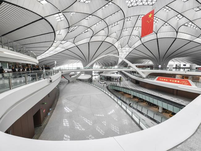 It's touted as 'the world's largest integrated transportation hub'. Picture: Imaginechina via AP