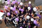 The RAC get into #purplefriday for our Wear Purple To Work campaign.