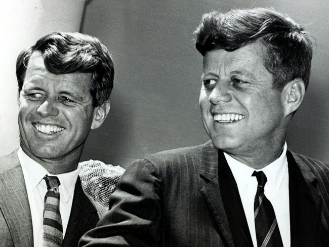 RFK and his brother JFK. Both were assassinated in the 1960s. Picture: Getty