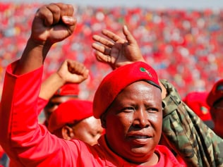 Marxist land-grabber Julius Malema holding South Africa's entire 2025 grain production