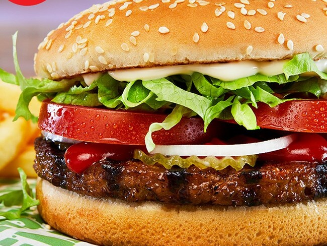 Though this looked like a beef burger, it definitely didn't taste like one. Picture: Hungry Jack's/Facebook