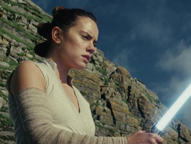 Rey (Daisy Ridley) struggles with her powers. Photo: Lucasfilm via AP