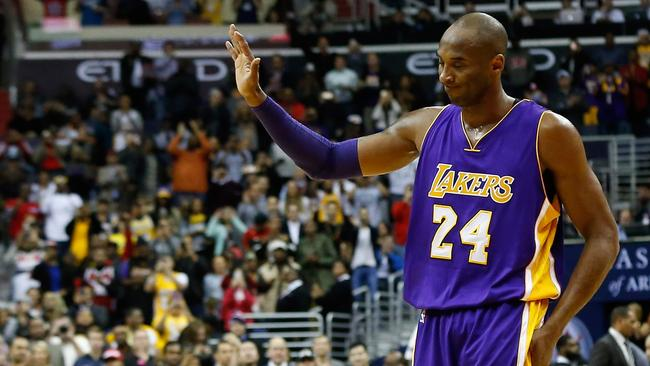 0c129a02539b Kobe Bryant waves to the crowd after his impending retirement was announced  in a game against