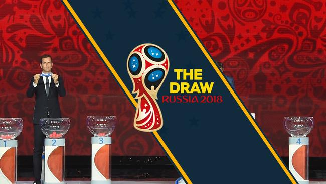 The 2018 World Cup draw.