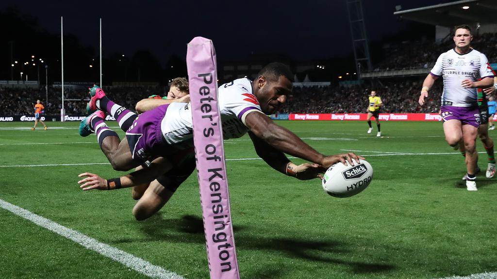 Suliasi Vunivalu is twice the NRL's top try-scorer. Picture: Brett Costello