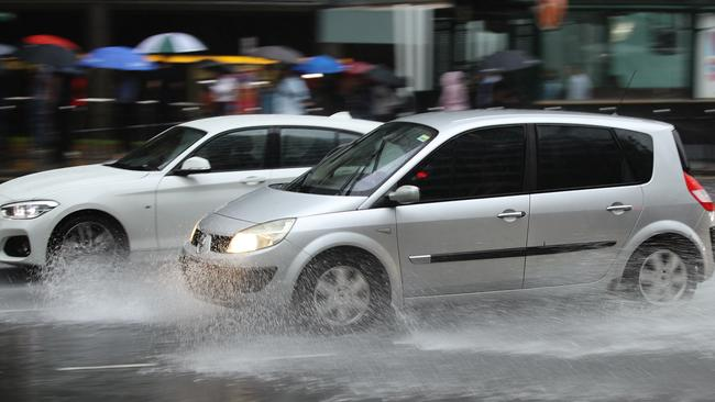 A severe weather warning is in place for Sydney and most of the NSW coast, with 130mm of rain predicted in Sydney alone. Picture: Brendon Thorne/Getty Images
