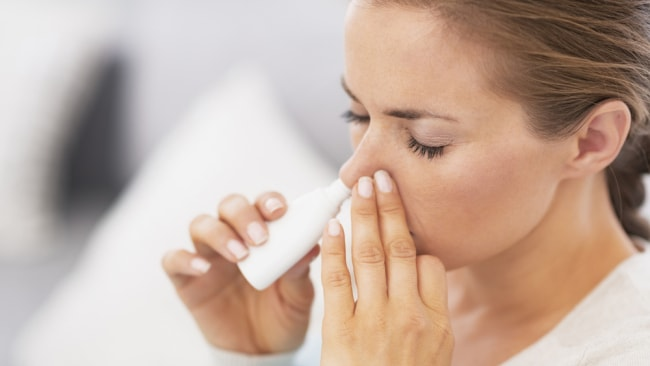 There are two main types of nasal sprays you can buy over the counter. Image: iStock.