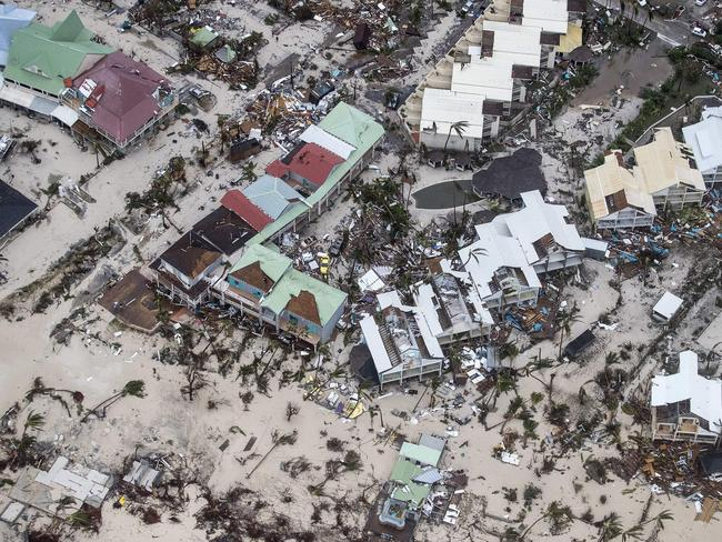 Damage on Sint Maarten. Picture: Gerben Van Es/AFP