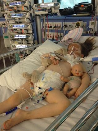 Rosie Baxter clung to life for 10 days after contracting influenza when she was four years old. Picture: Supplied