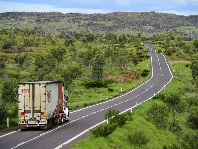 The Flinders Highway in Queensland is known as the 'highway of death' for the 11 young people who have vanished or disappeared along it. Picture: Wesley Monts.