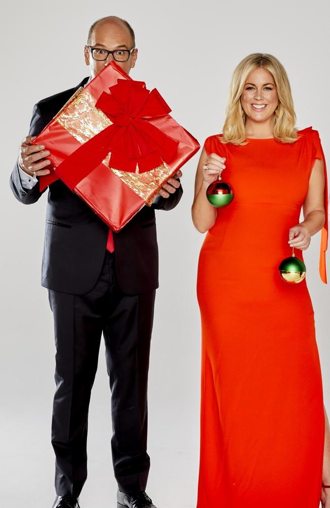 64d99f9ba0 Christmas is all about family traditions for Sunrise hosts David Koch and  Samantha Armytage. Picture  Channel 7