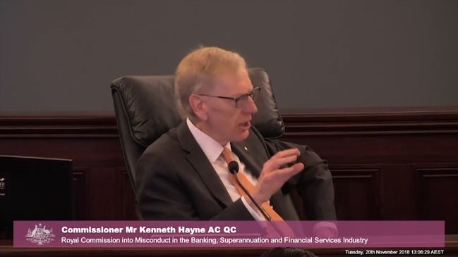 Hayne asks Comyn should there be external supervision of banks