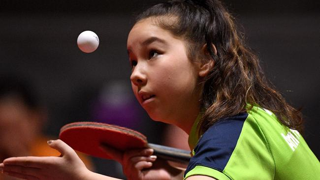 Anna Hursey is competing for Wales in table tennis at the Commonwealth Games. Picture: AFP