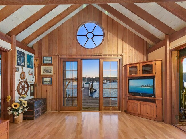 Boat houses becoming homes have the advantage of incredible waterfront views. Picture: Supplied