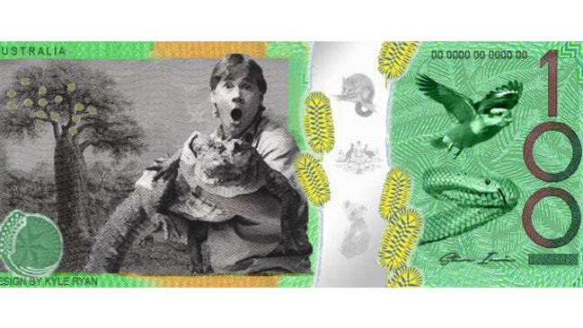 The proposed new design featuring Steve Irwin on our currency. Picture: Kyle Ryan
