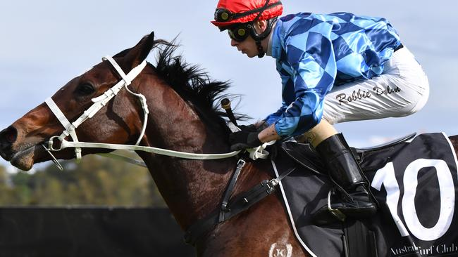 Robbie Dolan rode Funstar to victory at Canterbury Park. Picture: AAP