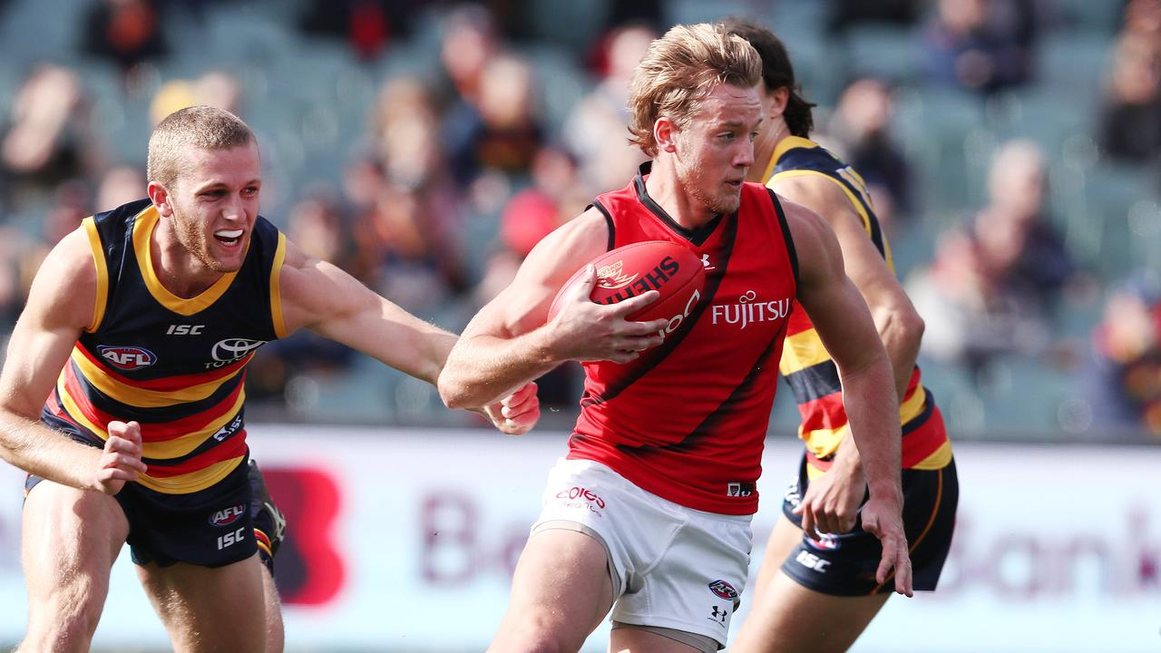 Darcy Parish is thriving in the midfield. Picture: Sarah Reed