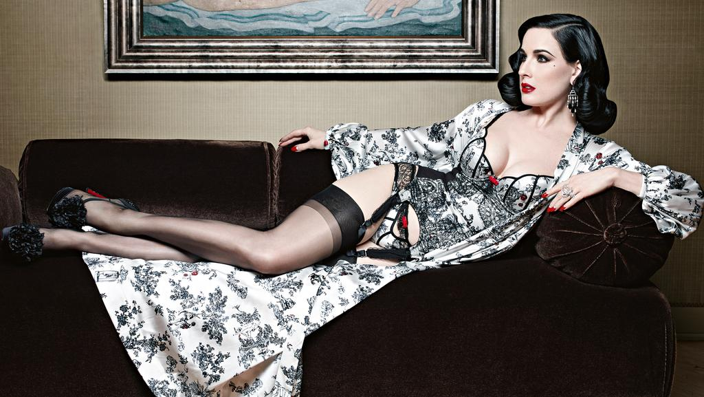 Burlesque Dancer Dita Von Teese Reveals Her Latest Sexy Lingerie
