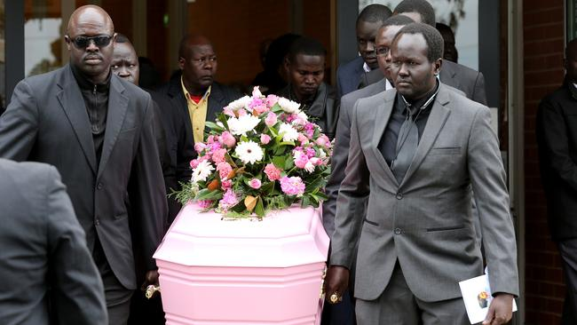 Ms Angok's funeral took place at Nazareth Catholic Church, Grovedale. Picture: Mike Dugdale