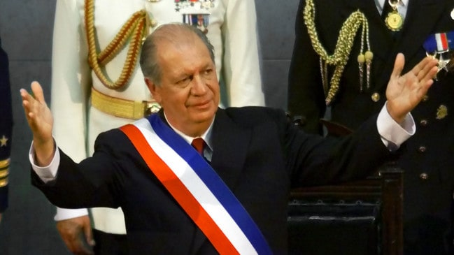 Chile's new President Ricardo Lagos after being sworn in. Picture: AP Pic/Eduardo Di Baia