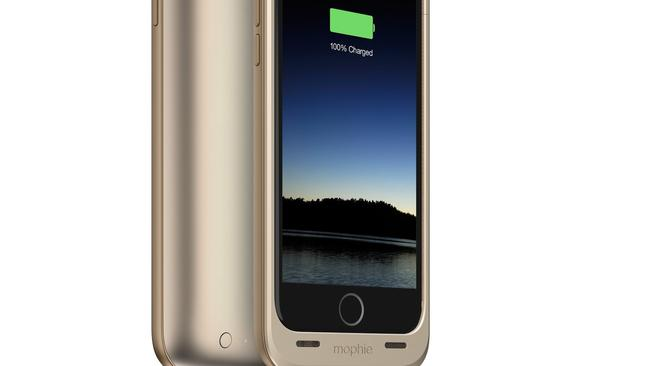 Power to shine ... Mophie Juice Pack battery case for Apple iPhone 6 Plus.