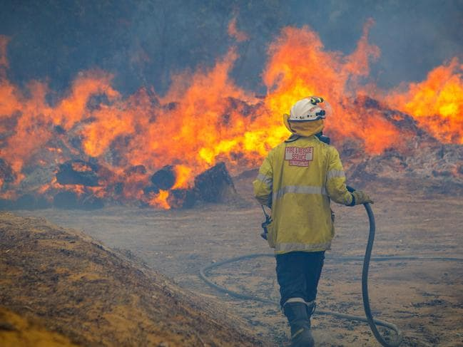 The bushfire in Yanchep has nothing in its path to stop it tearing through dozens of communities in WA. Picture: Lewis van Bommel.