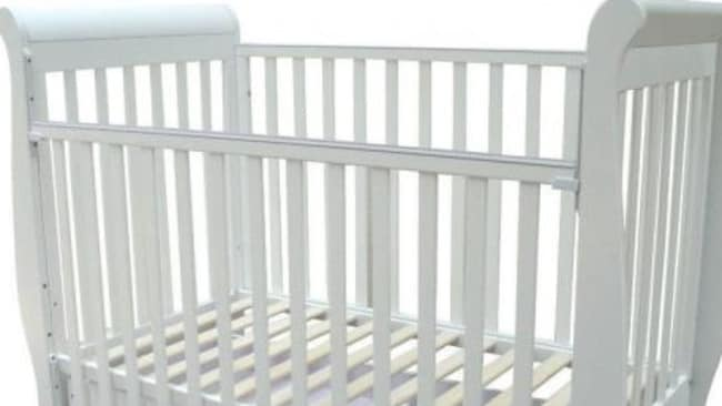 The 3-in-1 wooden baby cot is among the products recalled.