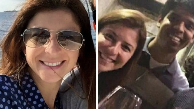 Mario Marcelo Santoro and Cecilia Haddad in what is believed to be one of their last photos together. Picture: Supplied