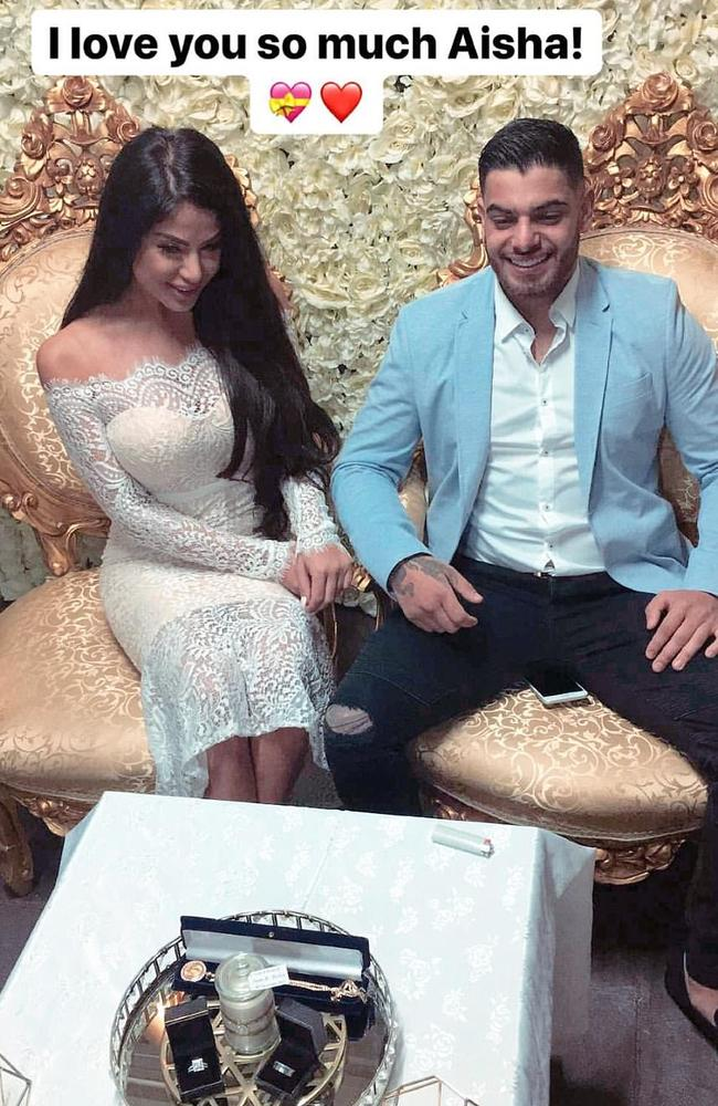 Snapchat picture of wedding of Aisha Mehajer and Sam Sayour. Picture: Supplied