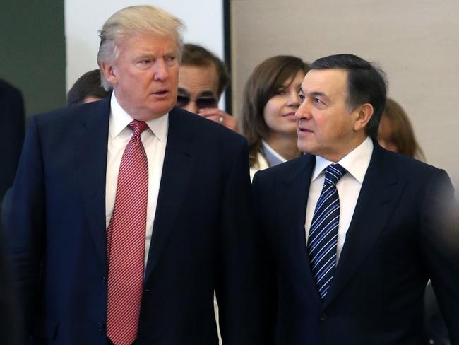 Trump had been working hard to develop a relationship with Aras Agalarov in the hope he could land some development deals in Russia, and meet Putin. Picture: Vyacheslav Prokofyev/TASS via Getty Images