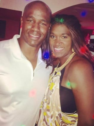 Former NFL star Antonio Armstrong and wife, Dawn. Picture: Supplied