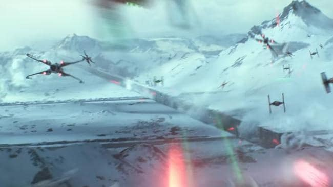 Throw in some X-Wings and you've got yourself a movie. Picture: Lucas Films