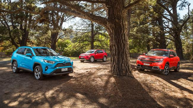 The Toyota RAV4, Land Rover Discovery Sport and Citroen C5 Aircross represent compelling options. Photos: Thomas Wielecki.