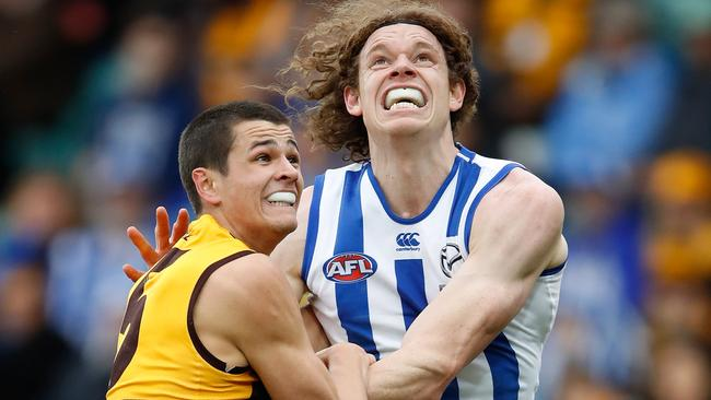 List guru Chris Pelchen believes Hawthorn and North Melbourne were the two biggest disappointments of the trade period. (Photo by Adam Trafford/AFL Media/Getty Images)