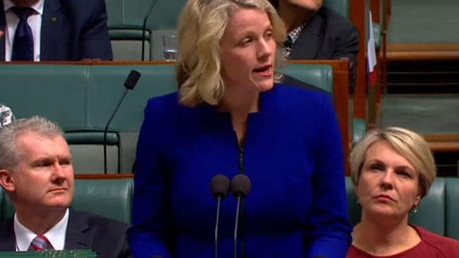 Clare O'Neil during Question Time.