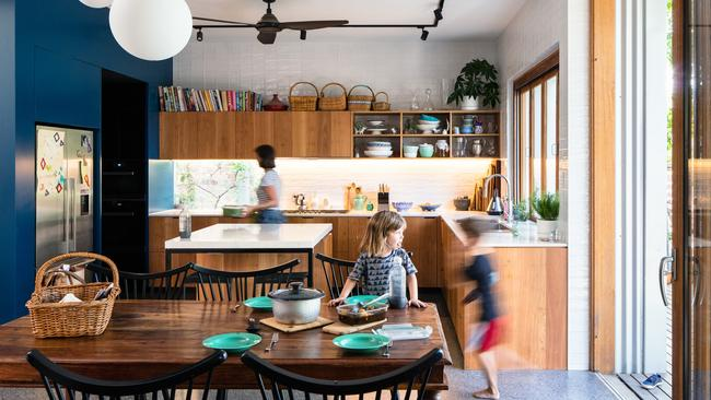 Family pleaser: the new open-plan kitchen and dining area.