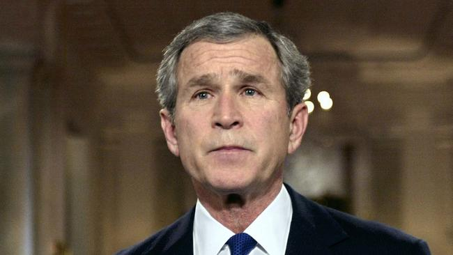 Former US president George W Bush at the White House in 2003 after issuing an ultimatum to Saddam Hussein: to flee Iraq in 48 hours or face a US-led invasion.