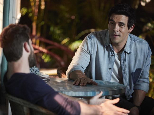 Justin (James Stewart) tries to make his brother Brody see the wrong in taking the illegal methamphetamine drug. Picture: Channel 7