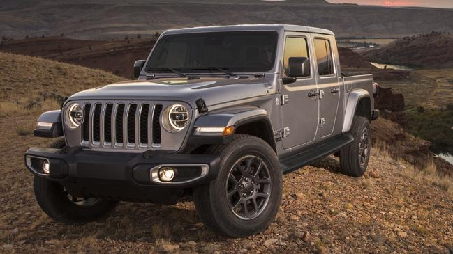 The Jeep Gladiator is about 20cm longer than the average Australian dual-cab ute.