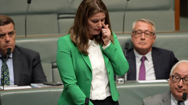 Ms Ellis during her valedictory speech. Picture: Getty