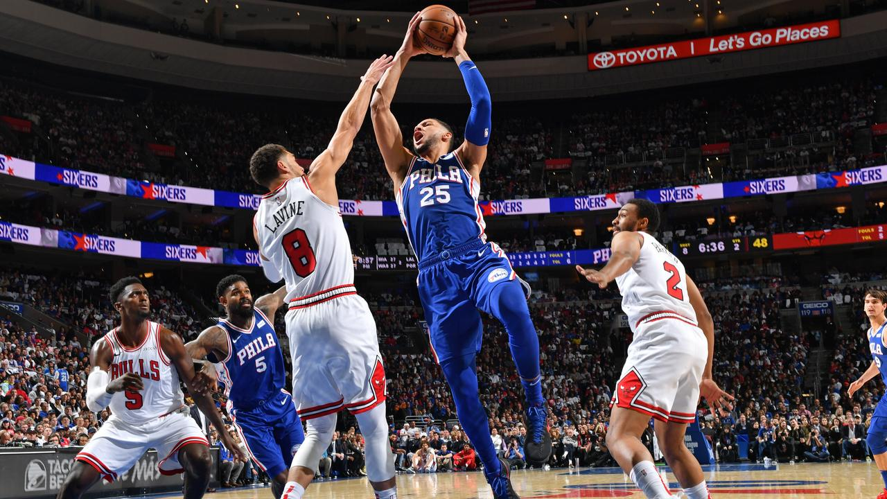 NBA: Ben Simmons stats, 76ers vs Chicago Bulls score, video