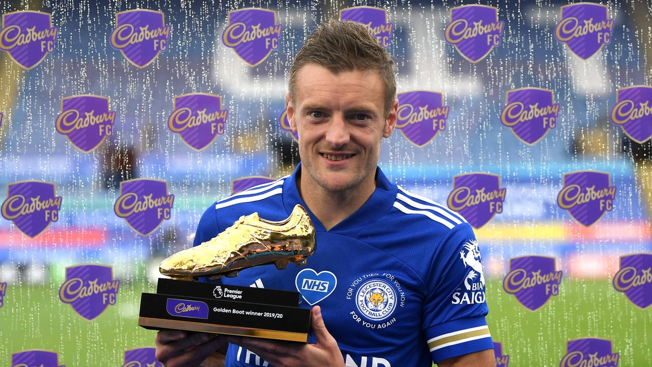 Jamie Vardy pipped Pierre-Emerick Aubameyang and Danny Ings to win the Golden Boot.