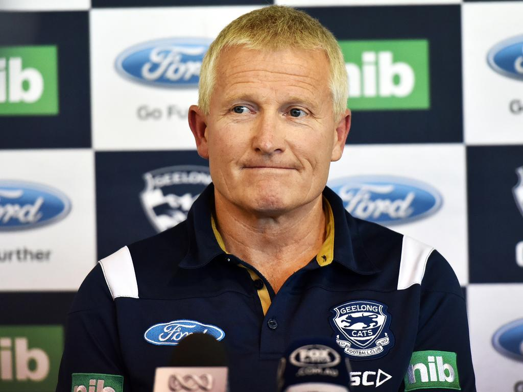 Stephen Wells - Geelong Football Club. Geelong Cats Recruiting & List Manager Stephen Wells at the announcement of new recruit Lachie Henderson. Picture: NIGEL HALLETT