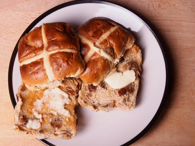 Question 35: Hot cross buns are marked with what symbol on top?