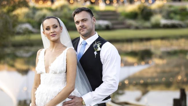 Ines and Bronson at their wedding. Picture: Supplied