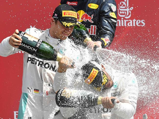 The only blow Rosberg can land.